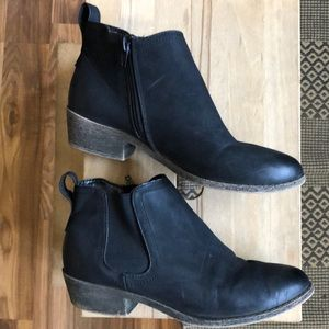 Merona black ankle booties